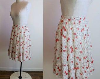 Strawberry Polka Dot Skirt