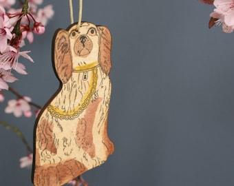 Spaniel dog hanging decoration