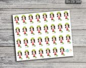 Cleaning Girl Stickers (Glossy & Matte)