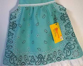 Seafoam Bandana Toddler Dress