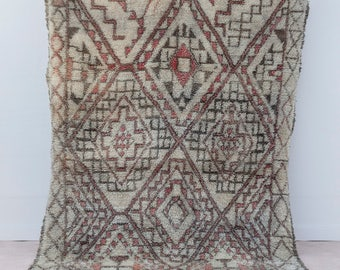 """ON SALE, Vintage Beni Ourain rug """"WaterColor"""", Moroccan rug, Berber rug, Mid century modern rug, Vintage rug, Wool rug, Pastel Rug, Boho Rug"""