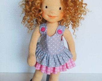 Waldorf doll Meggie, handmade doll, fabric doll, rag doll, natural toy, OOAK, steiner doll, cloth doll