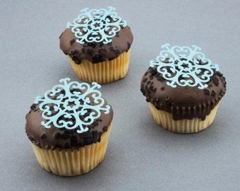 Snowflake,frozen,Christmas,edible cupcake topper,rice paper cake,edible cake, rice paper topper,edible,rice paper cupcake,chocolate,cake,