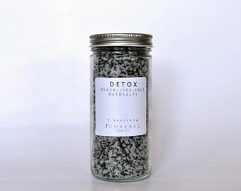 Detoxifying Bath Salts, Charcoal Rich, Black Sea Salt