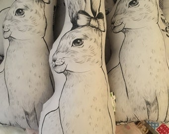 SALE- Alice the Bunny Cushion