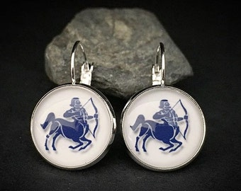 Sagittarius Earrings Zodiac Dangles Astrology Sign Jewelry - Sagittarius Jewelry Zodiac Sign Earrings Sagittarius Dangles Zodiac Jewelry