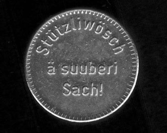 Swiss chip for Coin Operated Car Wash Equipment in Switzerland - jeton coin vintage token