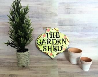 The Garden Shed Sign // Garden Decor, Spring Decor
