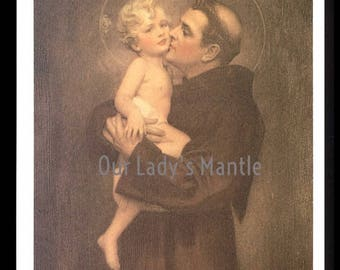 St. Anthony of Padua and Christ Child Print by Bosseron Chambers - Edward Gross & B. P. Co. - Free Shipping