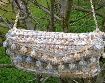 Bag crochet PomPoms