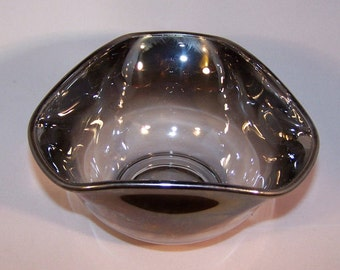 Faded Mercury Queen's Lusterware Snack Bowl