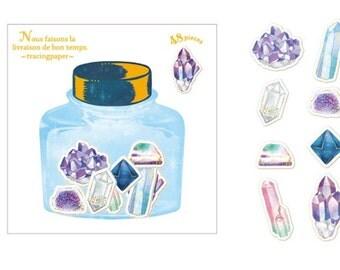 Sticker Flakes - Crystals Stickers - Minerals Stickers - Flake Stickers - Gold Foil Stickers - Mineral Rocks