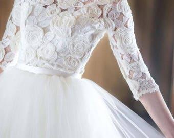 Wedding tulle white skirt, skirt, skirt, boho wedding bridal bridesmaid wedding dress floor length crop top, separate wedding dress