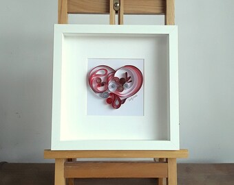 Paper Quilling Wall Art - LOVE HEART. Wall Art Décor, Quilling Art, Paper Art