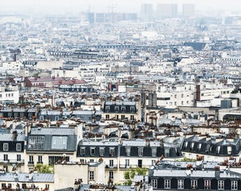 Paris Skyline Photography - Paris Rooftops - Wall Art Print - Paris Decor - Architecture - Fine Art Photography  - Paris Skyline - 0007