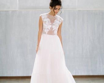 Wedding dress Rapsodia/bohemian wedding dress/romantic wedding dress/simple wedding dress
