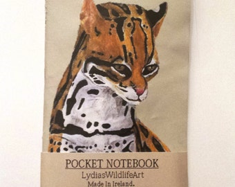 A5 Pocket Notebook / Sketchbook. Journal / Jotter. A Animal Notebook Cover.  For - Note Taking / Travel notes. A Watercolor Cat Notebook.
