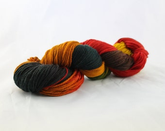 OOAK - Autumn Romance - Sport Weight - Sock Yarn - Arlene Base - 75/25 Merino Nylon - 274 Yards/100 Grams