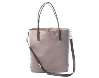 Gray Leather Handbag, Gray Handbag, Women Handbag made of Gray Leather, Gray Women Handbag