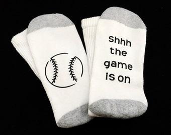 Baseball Socks - Baseball Gift - Funny Socks for Men - Gift for Him - Gift for Dad - Mens Sock - Wine Socks - Fathers Day - Christmas Gift