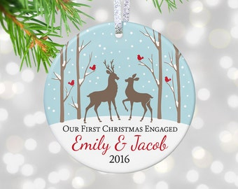 Engagement Ornament Couple Engagement Gift For Engagement Newly Engaged Gift Engagement Party Engaged Couples Engagement Gift For Couple