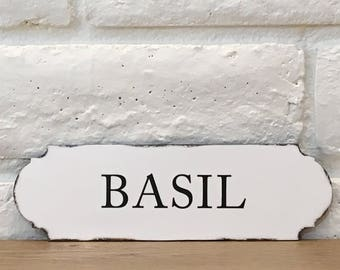 Basil Herb Sign Herb Sign Kitchen Word Sign Italian Herb Sign Kitchen