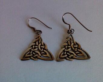Sterling Silver Celtic Knot Design Earrings