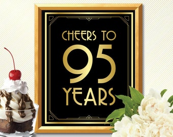 Cheers to 95 years happy 95th birthday cheers to 95 years sign 95th birhtday decoration 95th birthday card 95th birhtday cheers to 95 years