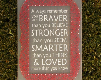 Always Remember You Are Framed String Art *Made-to-Order*
