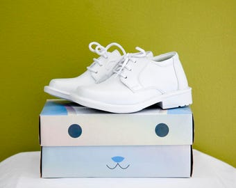 Boys White Formal Shoe for Baptisms, Communions, or Any Special Occasion