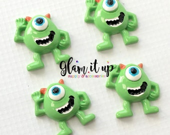 Monster Mike bow center-mike center- mike Flatback resin- mike cabochon-mike hair bow supply-monster inc