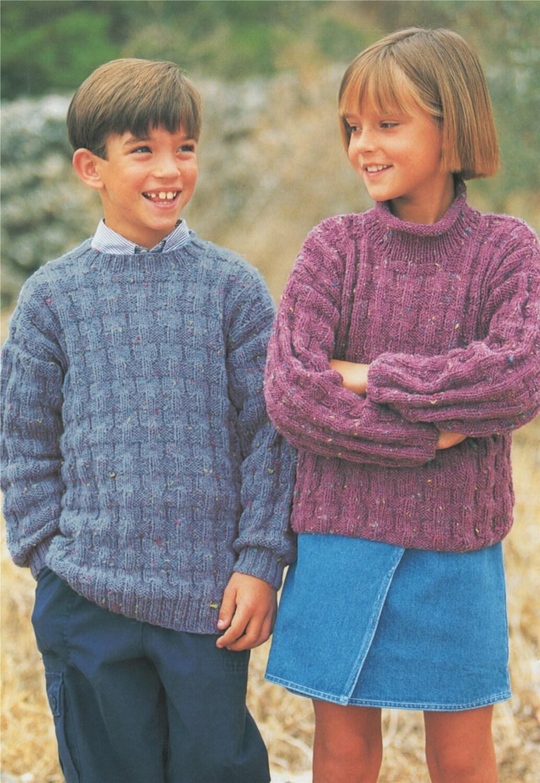 Childrens Sweater PDF Knitting Pattern : Boy or Girl 20 ...