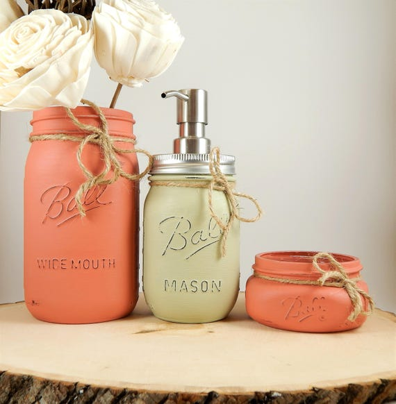 Mason Jar Kitchen Set Mason Jar Soap Dispenser Utensil