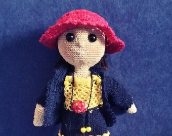 Handmade crocheted doll 1