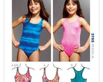 Girls Swimsuits Kwik Sew K3785 Sewing Pattern XS-S-M-L-XL Uncut