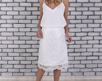 CLEARANCE SALE Wedding Dress Separates, Bridal Separates Top, Spaghetti Strap Bridal Wedding Top, Boho Wedding Top, Bohemian Wedding Top