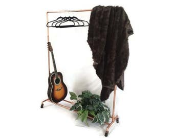 Copper Pipe Copper Clothing Rack With Swivel Wheels Made To Order
