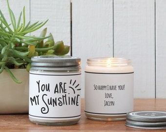 You are My Sunshine Soy Candle Gift - Soy Candle Greeting | Friend Gift | Cheer Up Gift | Inspirational Gift | Scented Soy Candle | Handmade