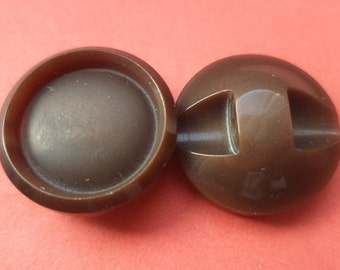10 dark brown buttons 15mm (5010) button