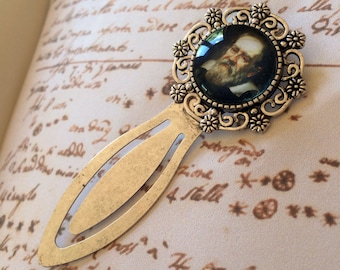 Galileo Bookmark - Galileo Galilei Bookmark , Science Bookmark, Gift For Scientist, Physics Bookmark, Galileo History of Science Bookmark