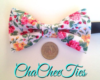 Dog Bow Tie ~ Floral Dog Bow Tie ~ Unique, Fun, and Affordable ~ Bow Tie for Dogs ~ Large or Small Dog Bow Tie