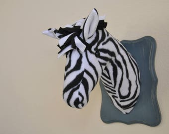 ZEBRA Wall Hanging - Part of a Wildlife Menagerie