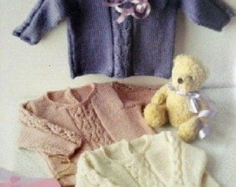 Knitting Pattern Baby Cable  Jumper ,  18-26in / 44-66 cm  DK  knitting pattern , BHKC 45, cable sweater