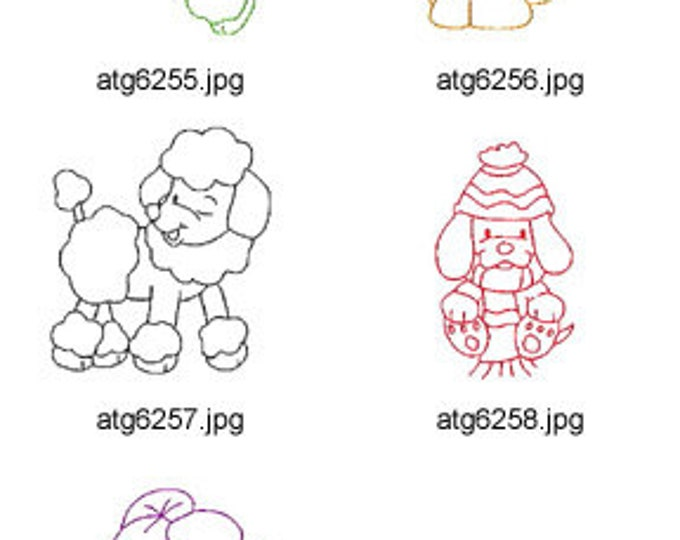 Simple-Puppies-II ( 5 Machine Embroidery Designs from ATW ) XYZ17C
