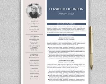 Resume Template | Professional Resume Template | CV Template for Word | 1, 2 and 3 Page Resume Template | Lebenslauf Vorlage
