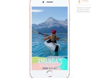 Custom Snapchat Geofilter: Pretty Brush Strokes  |  Engagement, Bachelorette, Birthday, Wedding, Shower