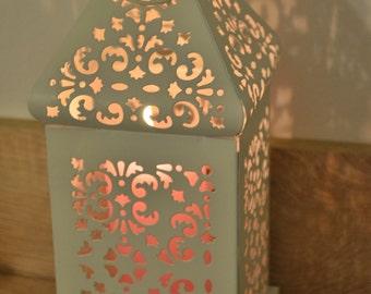 Off white vintage Moroccan lantern / wedding lanterns / rustic lantern / lanterns