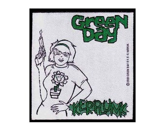 Green Day Kerplunk Sew On Patch from 2001  Unused    Lookout Records