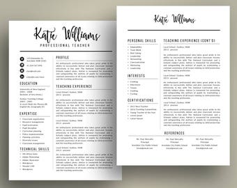 What Is The Best Font To Use For A Resume Teacher Resume  Etsy Resume For Dummies Excel with Accountant Resume Objective Pdf Simple Script  In  Teacher Resume Template For Ms Powerpoint Super Easy  To Edit Pe Teacher Resume Word