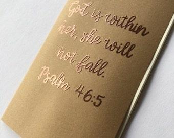 Personalized Journal | Prayer Journal | Scripture Journal | Kraft Journal | Blank Journal | Psalms | Hand Lettered | Embossed